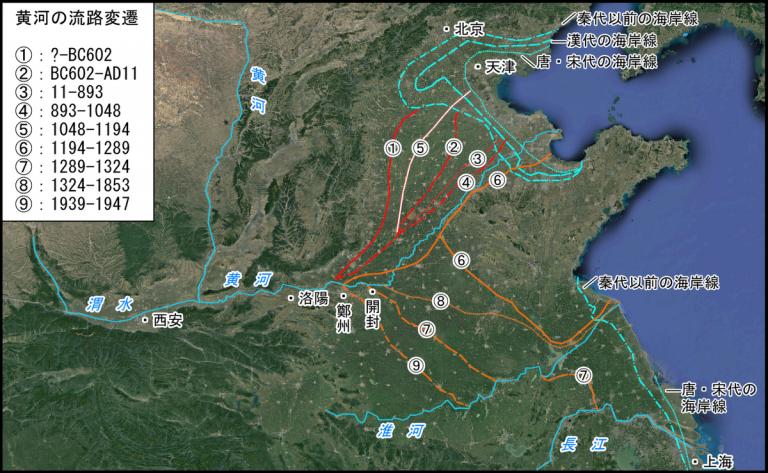黄河 流路 変遷